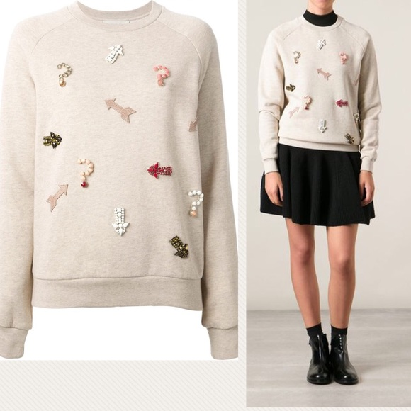 price remains stable discount shop factory outlets STELLA MCCARTNEY - Embellished Crewneck Sweatshirt